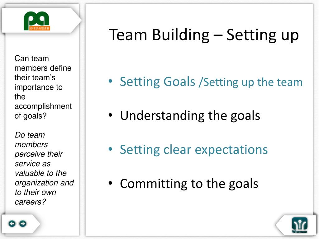 Team Building – Setting up