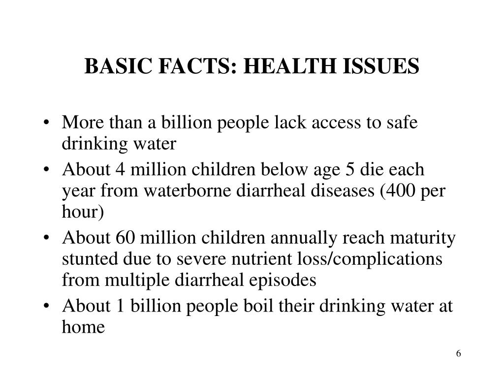 BASIC FACTS: HEALTH ISSUES