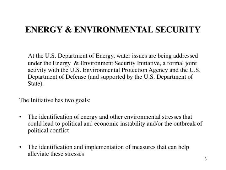 Energy environmental security