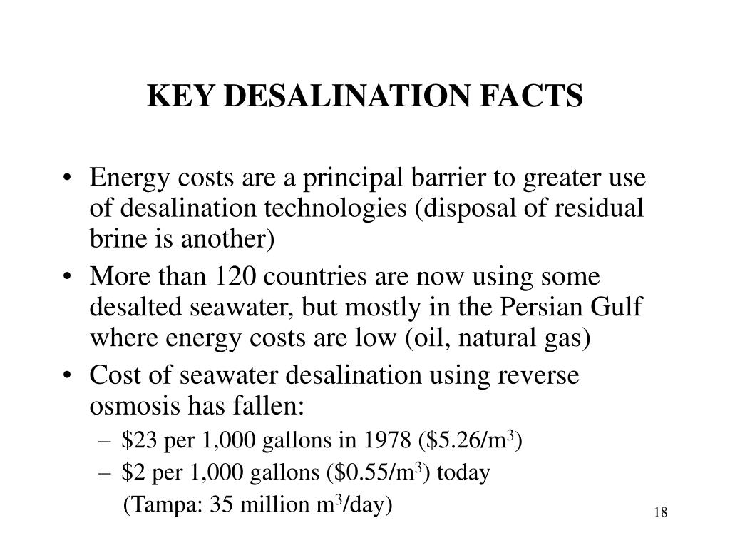 KEY DESALINATION FACTS