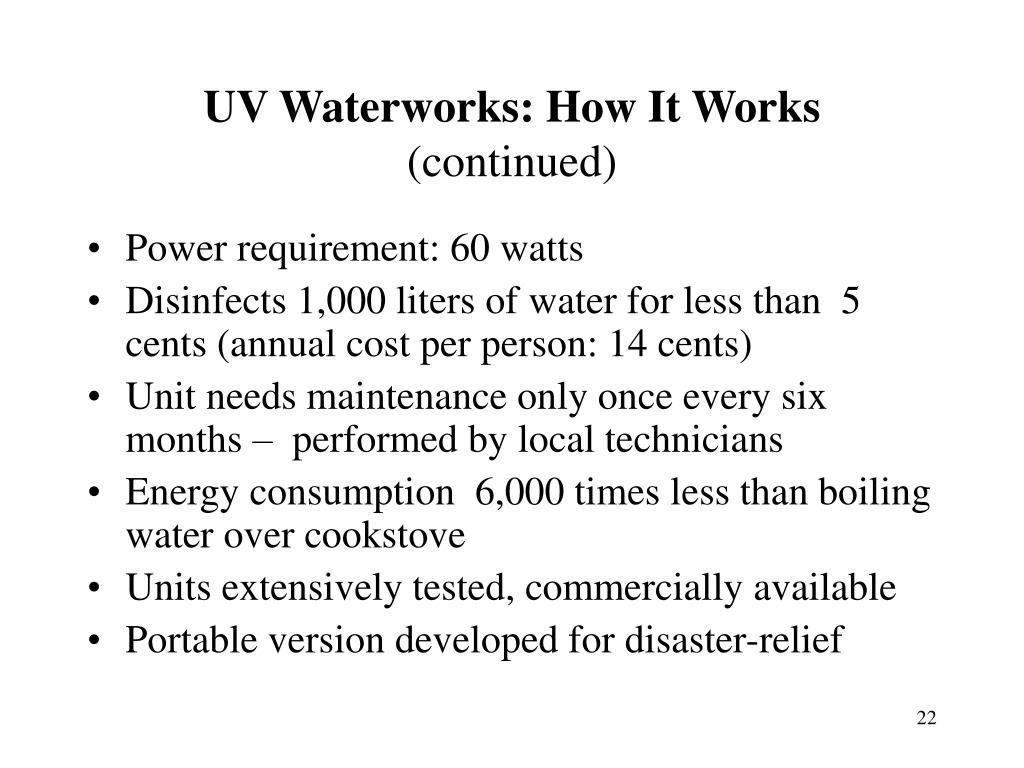 UV Waterworks: How It Works