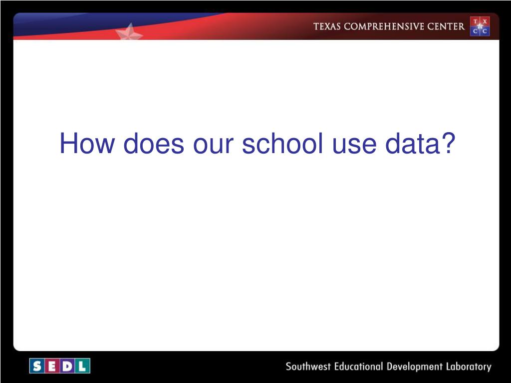 How does our school use data?
