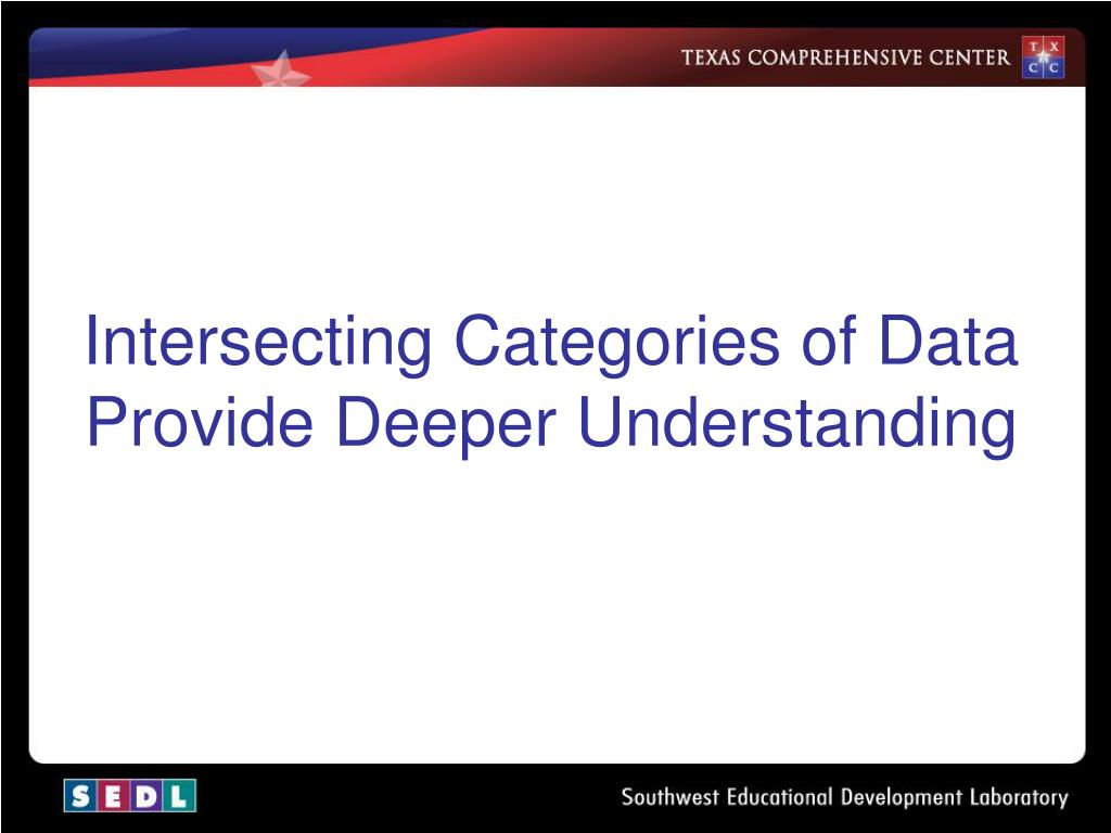 Intersecting Categories of Data