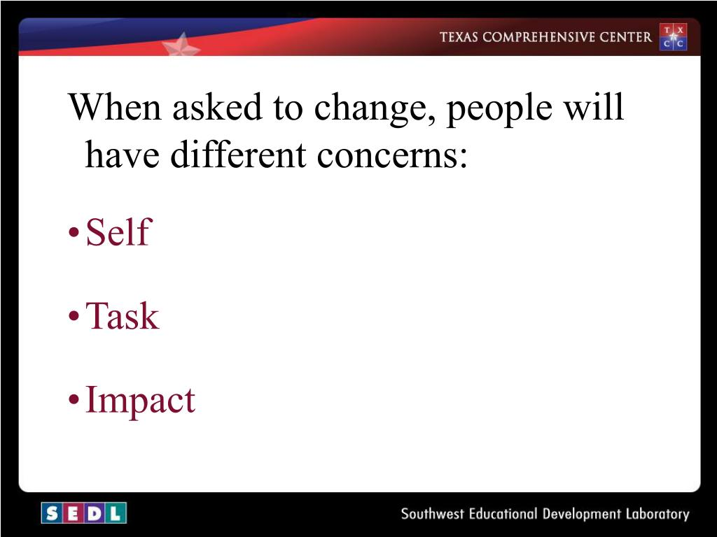 When asked to change, people will have different concerns: