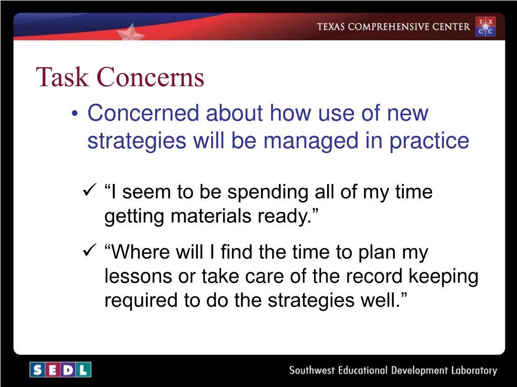 Task Concerns