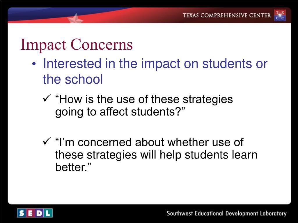 Impact Concerns
