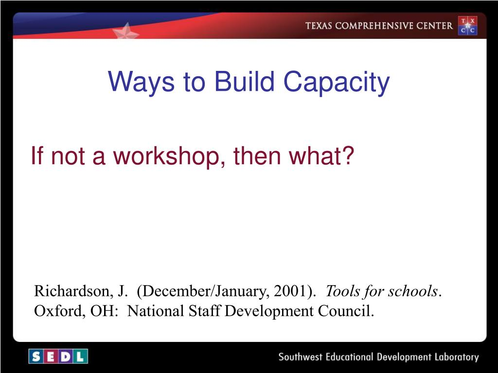 Ways to Build Capacity