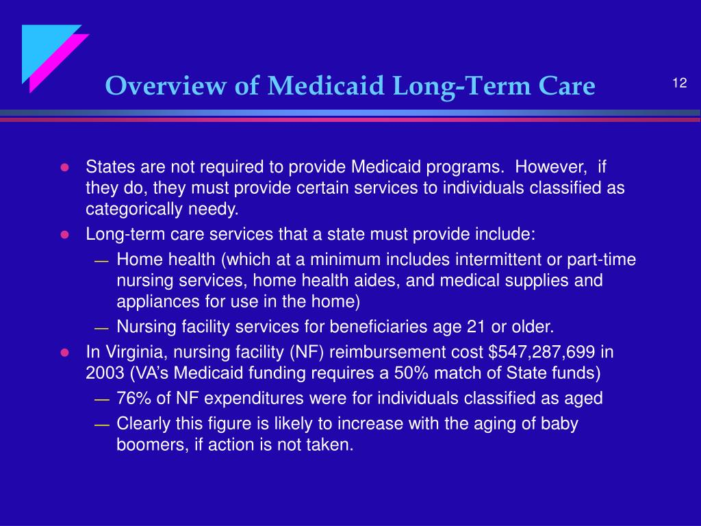 Overview of Medicaid Long-Term Care