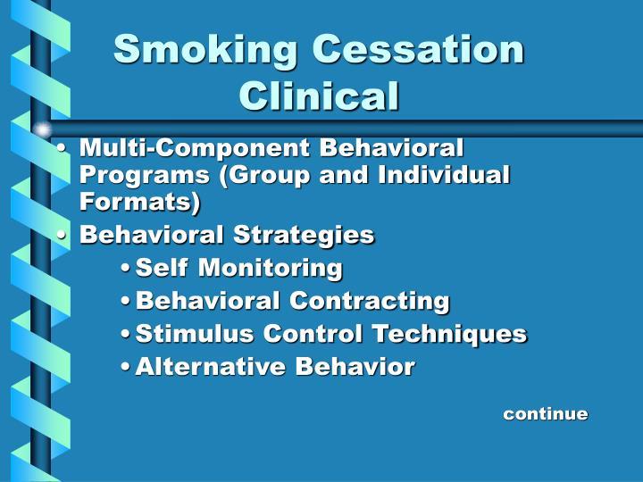 Smoking cessation clinical