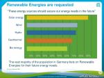 renewable energies are requested