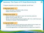 summary the future of pv solar electricity ii
