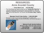 suicide prevention resources anne arundel county