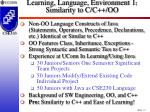 learning language environment 1 similarity to c c oo