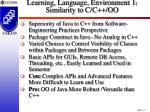 learning language environment 1 similarity to c c oo18