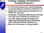 learning language environment 2 teaching perspective20