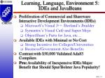 learning language environment 5 ides and javabeans