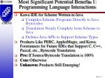 most significant potential benefi ts 1 programming language interactions