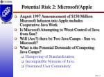 potential risk 2 microsoft apple