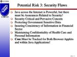 potential risk 3 security flaws12