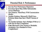 potential risk 4 performance