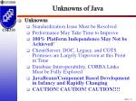 unknowns of java
