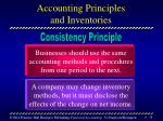 accounting principles and inventories
