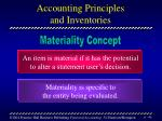 accounting principles and inventories40