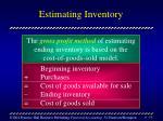 estimating inventory