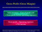 gross profit gross margin