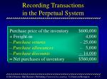 recording transactions in the perpetual system13