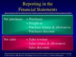 reporting in the financial statements18