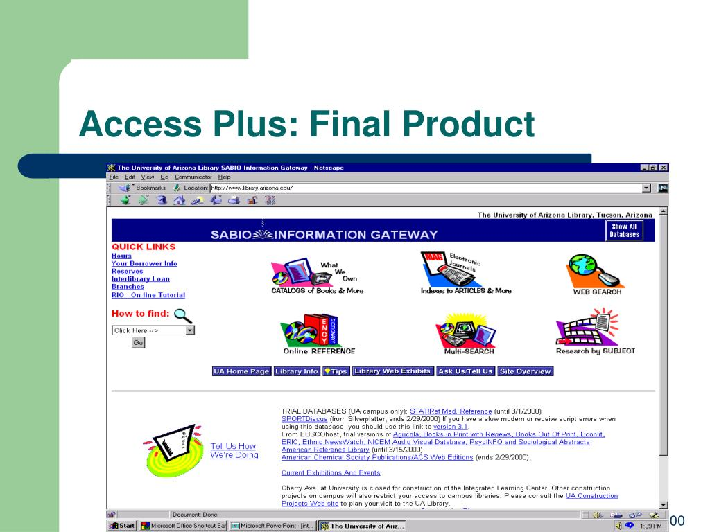 Access Plus: Final Product