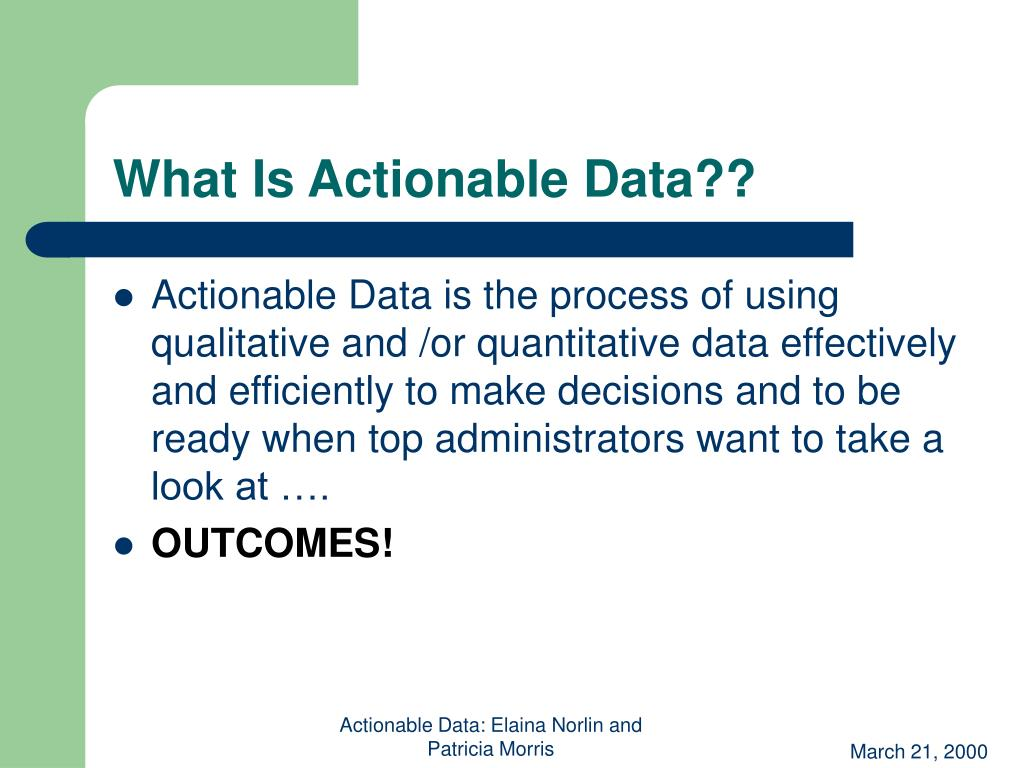 What Is Actionable Data??
