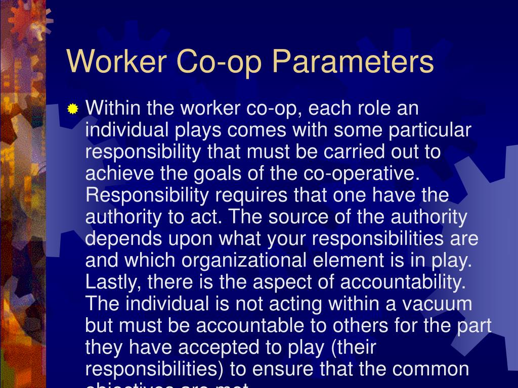 Worker Co-op Parameters
