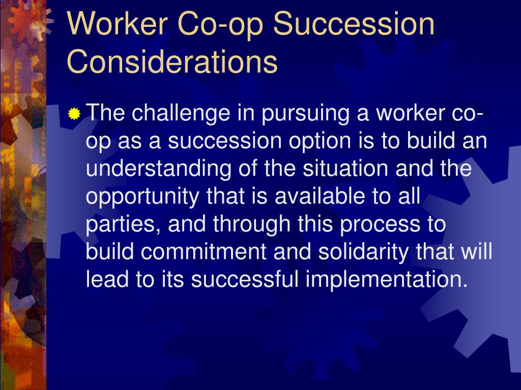 Worker Co-op Succession Considerations