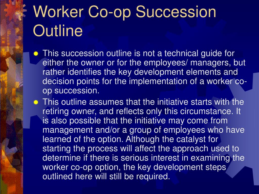 Worker Co-op Succession Outline