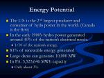 energy potential