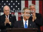 the united states energy policy