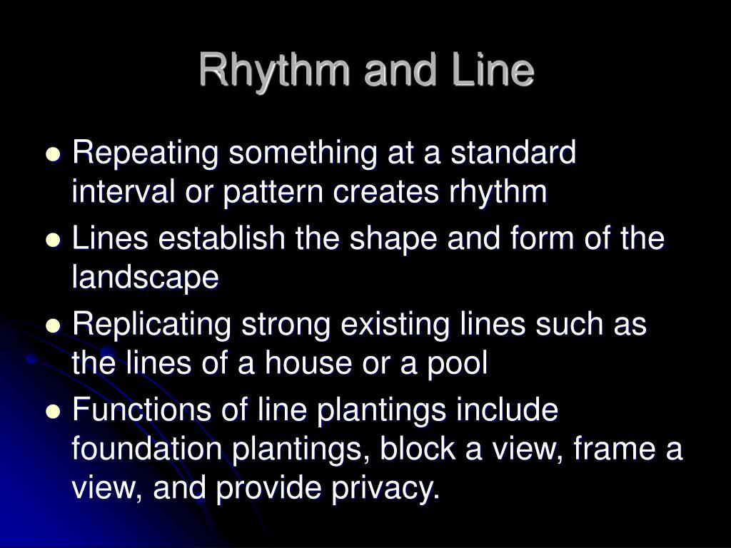Rhythm and Line