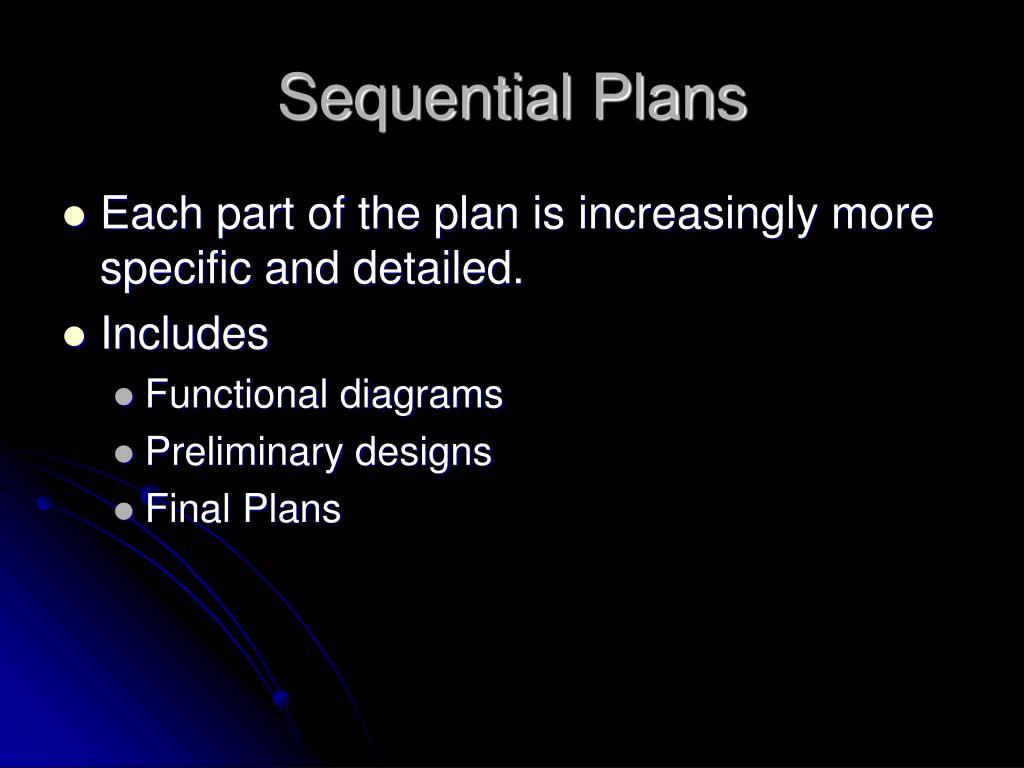 Sequential Plans