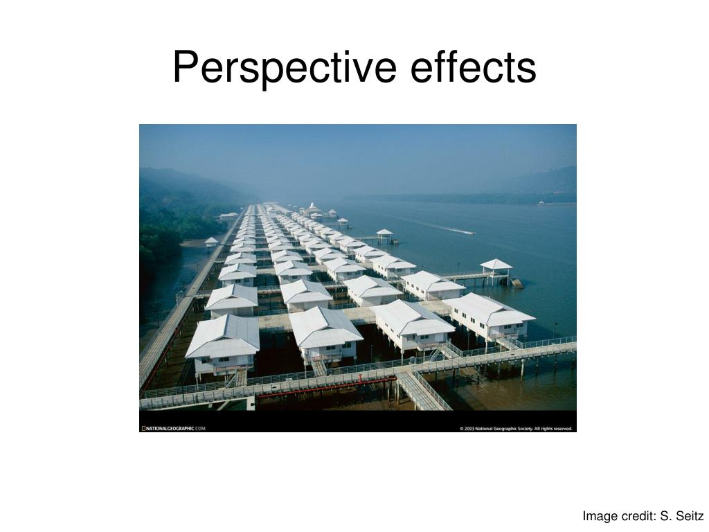 Perspective effects