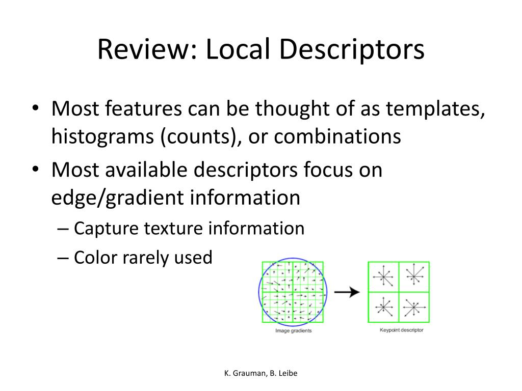 Review: Local Descriptors