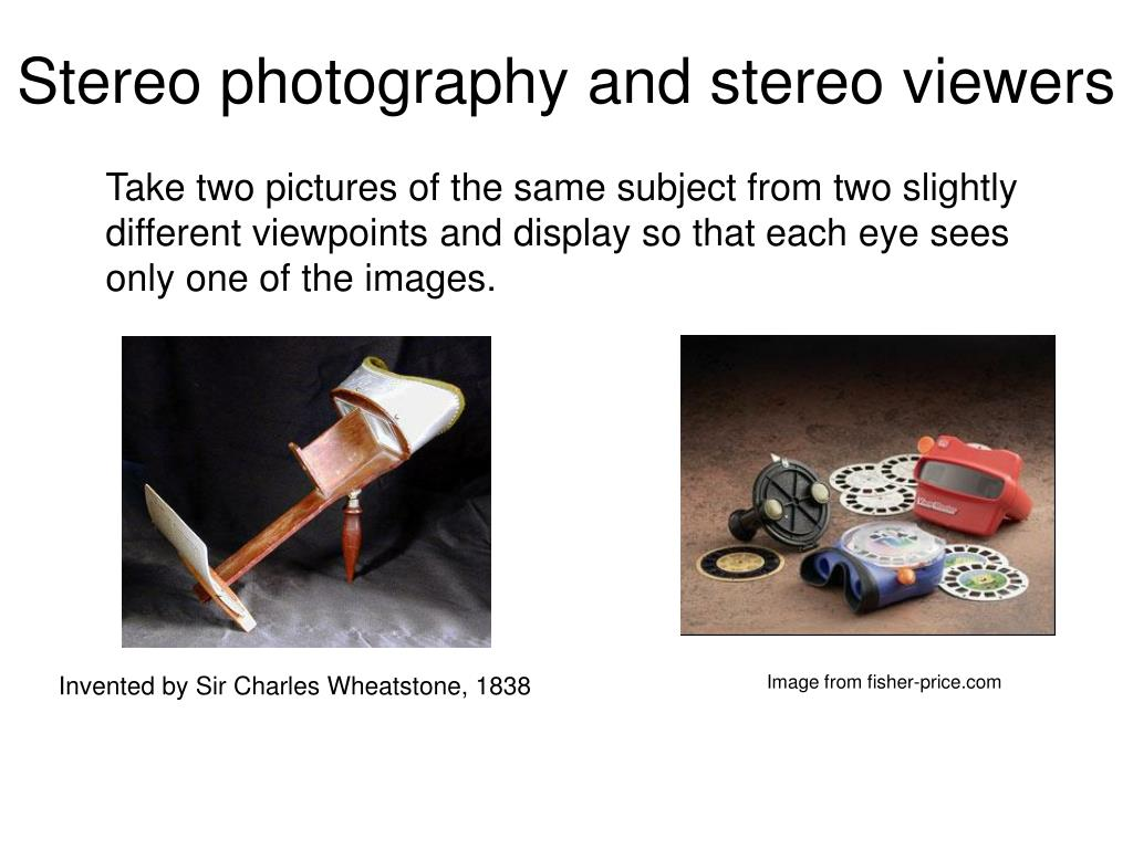 Stereo photography and stereo viewers
