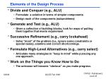elements of the design process
