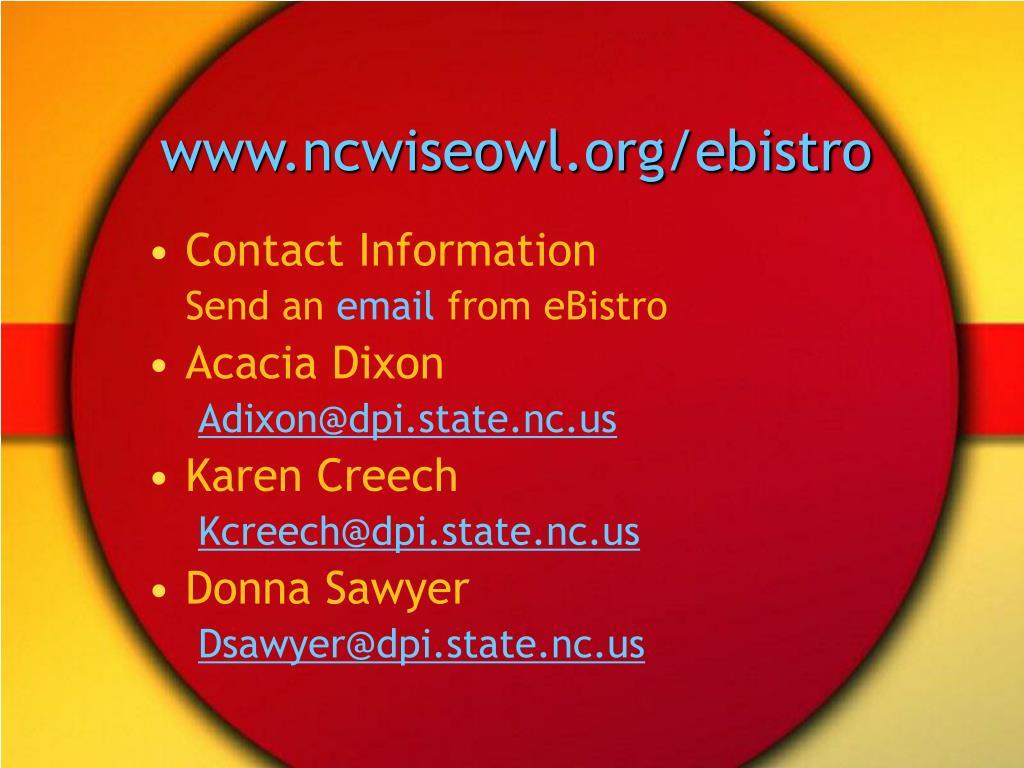 www.ncwiseowl.org/ebistro