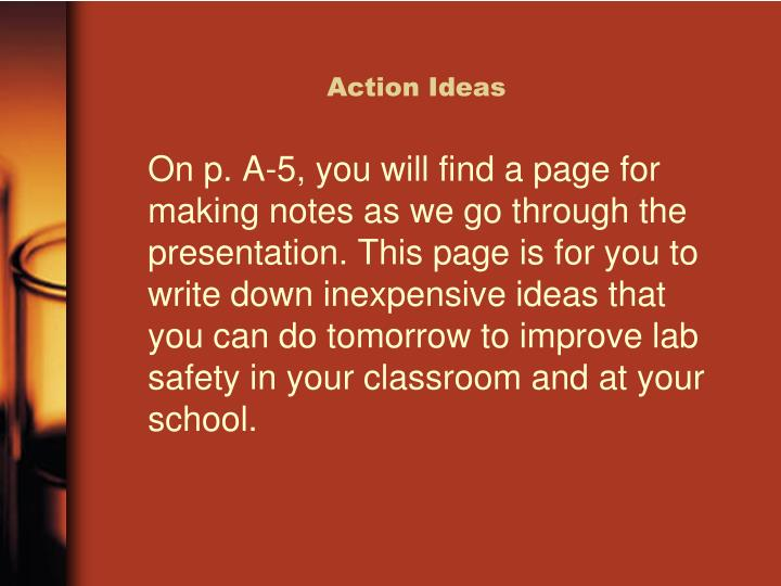 Action Ideas