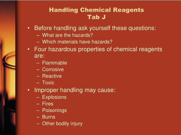 Handling Chemical Reagents