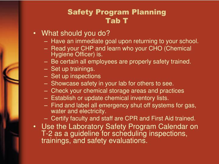 Safety Program Planning