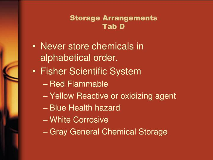 Storage Arrangements