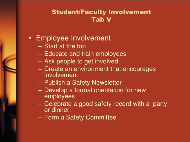 Student/Faculty Involvement